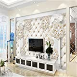 LHDLily 3D Tapete 3D Wallpaper Fresken Wandbilder Verdicken Paket Römische Säule Diamant Schmuck - Gewebt Papier Tv Vertrag Große Tapeten Home Decor 400Cmx300Cm