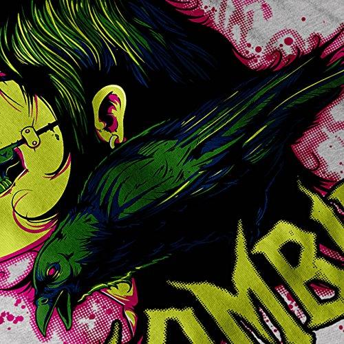 Zombie Sterben Fleisch Vogel Horror Damen Schwarz S-2XL Muskelshirt | Wellcoda Grau