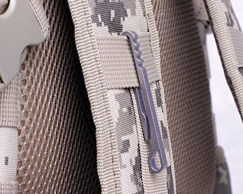 vecty (TM) multifonction en alliage de titane octogonale EDC Clé chaîne portable Outdoor Camping randonnée Outil de poche avec 10kg de chargement 2Taille, SILVER SIZE S