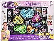 Seed Beads, Letter Beads Pony Beads Grid Bead Craft Kit Set Rope DIY Art and Handmade