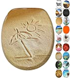 Soft Close Toilet Seat | Wide choice of new Toilet Seats | High-quality surface | Stable Hinges | Easy to mount (Sunshine)