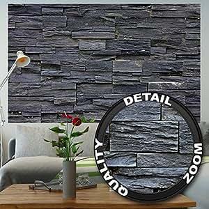 effet de papier peint de pierre noire 3d noir papier peint de d coration de mur en pierre noire. Black Bedroom Furniture Sets. Home Design Ideas