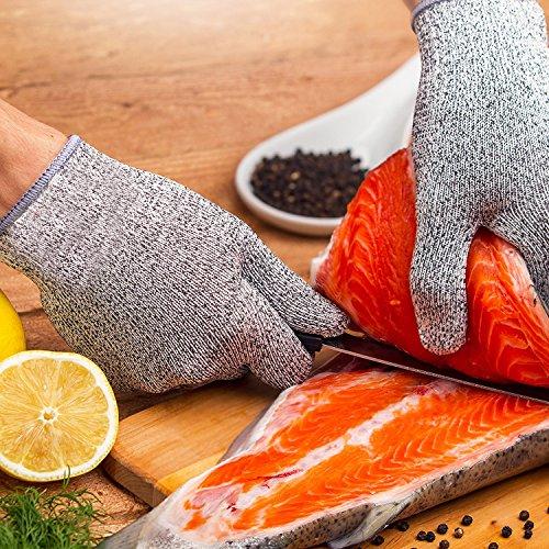 Schnittschutz-Handschuhe - Schutzstufe 5 nach EN 388 - Zertifiziert zur Gewährleistung der Sicherheit in der Küche und gegen alltägliche Schnitte (Kochen, Gartenarbeit, DIY) - Größe M