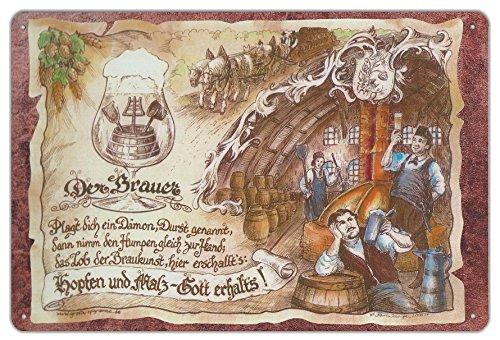 Geschenk Brauer Blechschild 30 x 20 cm