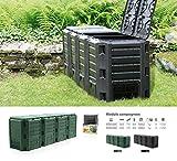 Prosperplast–Compostiera da 1600L con Materiale di Alta qualità e Resistente