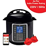 Mealthy MultiPot 9-in-1 Programmable Electric Pressure Cooker 6 Litres with Stainless Steel Pot, Steamer Basket and...