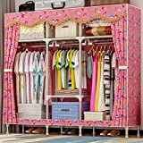 N&B Tragbare Kleider Schrank kleiderschrank mit vliesstoff und Hängende Rute, Schnell und Einfach zu Montieren Geräumiger & Robust-C 165x170x45cm(65x67x18)