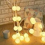 ELINKUME Guirlande lumineuse LED 20LED Fée Lampe Lumières de fête Décorations pour Balcon Intérieur Partie de Mariage de Vaca