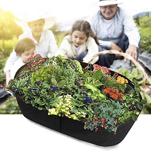 Grand sac de plantation Pot de fleurs jardin Légumes Salade de tomates pour sac de culture pour pot de fleurs 60x120x40cm Noir