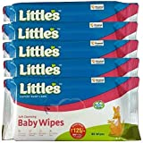 #6: Little's Soft Cleansing Baby wipes (80 count) pack of 5 (aloe vera)