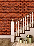 PPD Brick Wallpapers. High Quality Stone Brick Wall Effect Pre Gummed Wallpaper (Self Adhesive) (Large Roll / 45 SqFt)