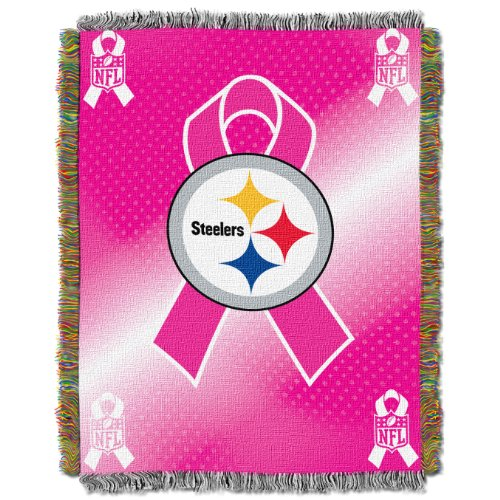 Heckklappe Decke (Northwest Pittsburgh Steelers Brustkrebs Bewusstsein Tapisserie Überwurf Decke 46x 61)