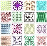 Guwheat 16 Pz 20x20 cm di grandi dimensioni Mandala Dot Stencil per pittura, Modelli Strumenti per il disegno / Pavimento / Mobili in legno e Pareti in pietra Arte