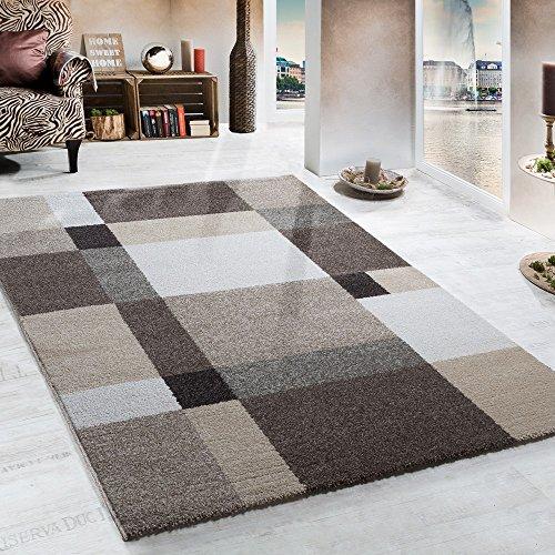 carpet thick woven beige brown cream 80 x 150 cm
