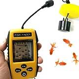 Sonar portable Fish Finder - 100m de profondeur - Pour la pêche en mer, lac, bateau, pêche sur glace et la pêche depuis la rive