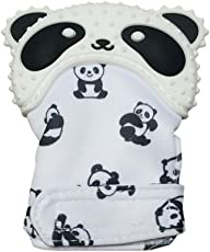Fancyku BPA-Free Baby Teether Mitten Toy (Black and White)