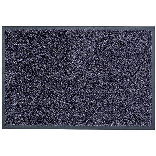 Schmutzfangmatte Proper Tex Fussmatte Türmatte Eingangsmatte 4 Größen blau-grau, Größe:40x60 cm