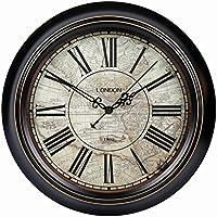 Retro Reloj de Pared silencioso Salón Jane Europea Antiguos gráficos de Pared País Americano Retro Dormitorio