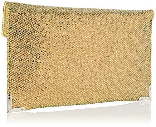 SwankySwans ,  Damen Handtasche ohne Henkel Goldfarben