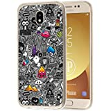 deinPhone Samsung Galaxy J3 (2017) Silikon Case Comic Muster Grau