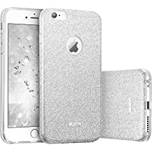 Funda iPhone 6S Plus/6 Plus, ESR Funda Case Carcasa Dura Brillante Brillo Purpurina llamativa para Apple iPhone 6 Plus/6S Plus - Plata