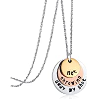Hamilton Gifts, Not Throwing Away My Shot Tri-layer Necklace for Teen Girls Broadway Musical Inspired Jewelry