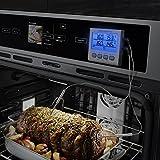 ThermoPro Termometro da cucina a cottura digitale con doppia sonda a carne Forno con timer per cucina, ampio display LCD, retroilluminazione blu by ThermoPro