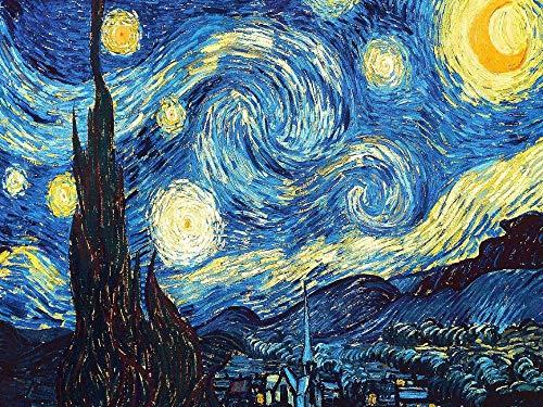 Kits de pintura de diamante 5D Van Gogh Pintura abstracta Cielo estrellado Pintura Rhinestone lleno Bordado de punto de cruz Mosaico Arte de DIY Inicio Decoración de pared 50X40cm