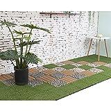Home Deluxe | Kunstrasen Terrassenfliese | 1 m² | 11 Fliesen á 30 x 30 cm