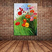 IPLST@ Paesaggio moderna larga Vita pittura a Wildwood fiori olio su tela, dipinto a mano su tela di decorazione domestica moderna -24x36inch(Nessuna cornice, senza barella)