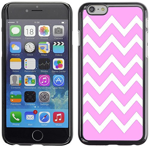 Graphic4You Chevron Muster Harte Hülle Case Tasche Schutzhülle für Apple iPhone 6 Plus / 6S Plus (Aqua Blau) Rosa
