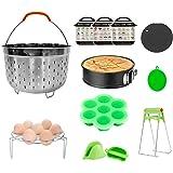 yidenguk Accessoireset voor snelkookpan 12-delige accessoireset voor 5 6 8qt Instant Pot Inclusief stoombootmand, springvorm,