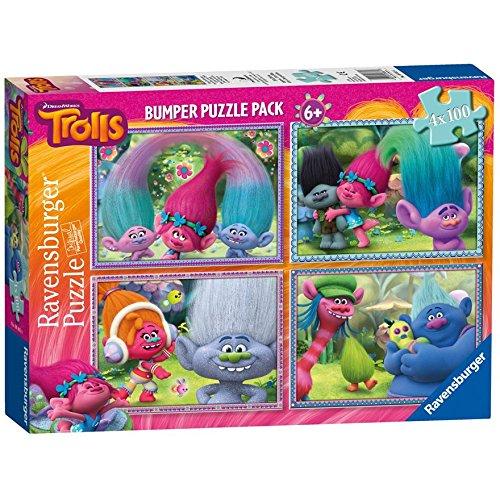 Trolls 4x 100pc Puzzle