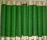 (0,01?/m) 25 Rollen Wickeldraht Bindedraht Basteldraht grün lackiert 0,65mm Draht