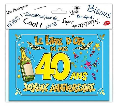 LIVRE D'OR JOYEUX ANNIVERSAIRE - TOCADIS-40 ANS