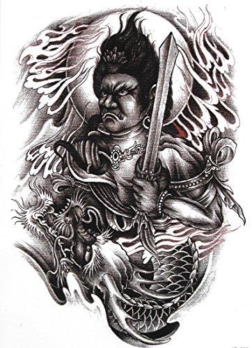 Preisvergleich Produktbild 2er-Pack! Tattoo: Krieger & Drachen - Wie ein echtes! - Temporäre Tätowierung / temporary tattoo | Wie ein Henna / Mehndi temporäres Tattoo | Hält ca. eine Woche! | TattooInOneMinute | Einmal-Tattoos | temporary Tattoo | Fake Tattoos | Klebe-Tattoos | Abzieh-Tattoos | Flash-Tattoos...