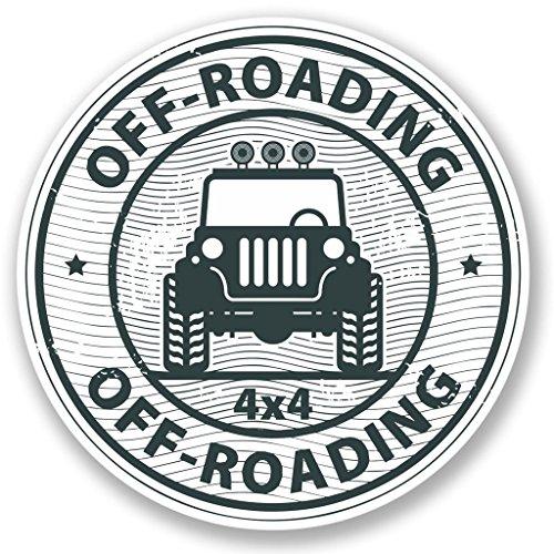 2 x 10cm/100 mm Off-Roading 4x4 Etiqueta autoadhesiva