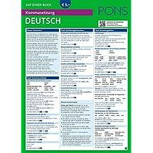 PONS Kommasetzung auf einen Blick Deutsch - Alle Komma-Regeln zum Nachschlagen! (PONS Auf einen Blick)