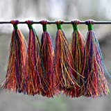 #6: Embroiderymaterial Tassels for Craft,Earring Making and Decoration Purpose (10 Pieces,Multi-Color)