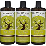 Dr. Woods Pure Tea Tree Liquid Castile Soap, 32 Ounce (Pack of 3)