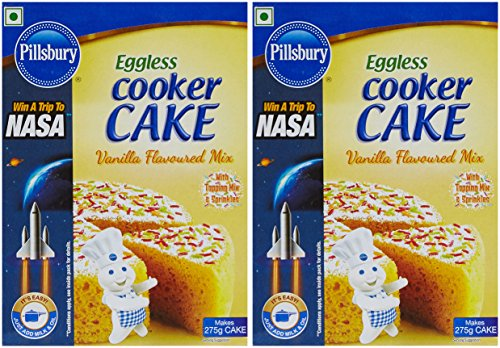 Pillsbury Eggless Cooker Cake Mix, Vanilla, 159g (pack Of 2)