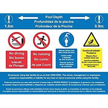 Safety Signs & Signals No Diving swimming pool sign 1.2mm ...