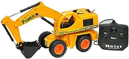 Mahvi Toys Remote Controlled Shovel Loader JCB Truck Toy (Multicolor)