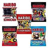 Haribo Lakritz Probierset-3, Beutel-Set, Salino, Schnecken, Konfekt, Schnuller, Color-Rado,