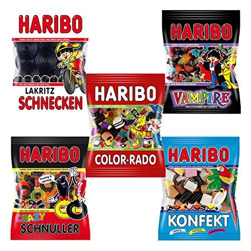 Haribo Lakritz: Salino, Schnecken, Konfekt, Schnuller, Color-Rado