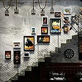 GWF 15 Multi Cadres Photo Ensemble Style Industriel Vintage Maison créative Pendentif Cadre Photo Fond Mur Photo Mur (Couleur : A)