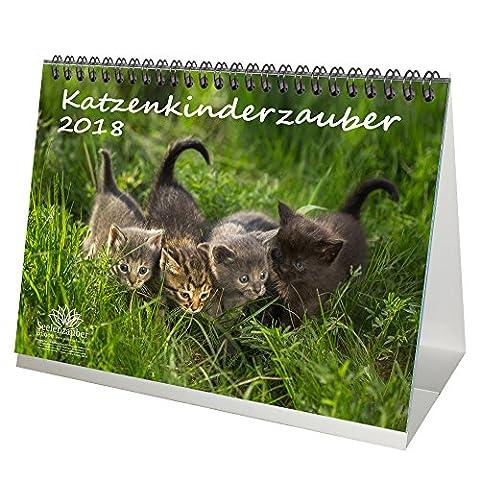 Premium Tischkalender / Kalender 2018 · DIN A5 · Katzenkinderzauber · Katzenkinder · Katzenbabys · Katzen · Stubentiger · Tier · Edition (Katze Weihnachtskarten)