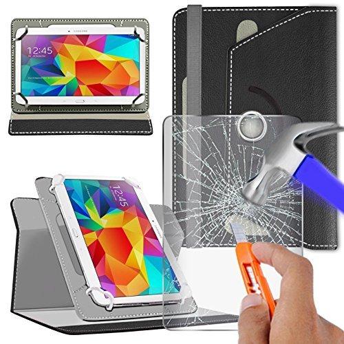 """Preisvergleich Produktbild fürN4U Online - Various Buntglas schutzhülle & Rotierend Pu Leder Schutzhülle For Lenovo Yoga Tablet 3 8"""" Tablette - Schwarz"""