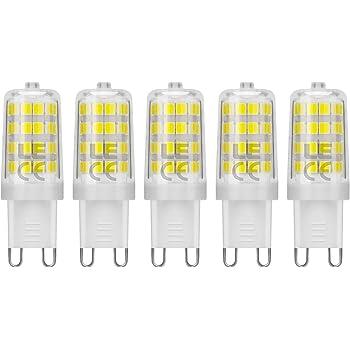 LE Bombillas LED, G9 5W Equivalente a 50W Halógena, Blanco Frío, 340lm No