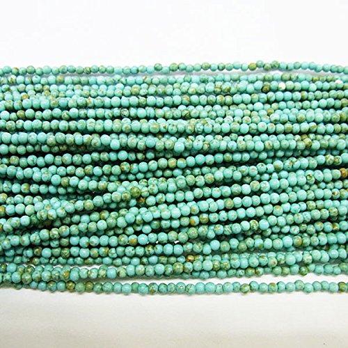 2mm rotonda howlite turchese verde pietra preziosa perline 38,1cm l by thetastejewelry